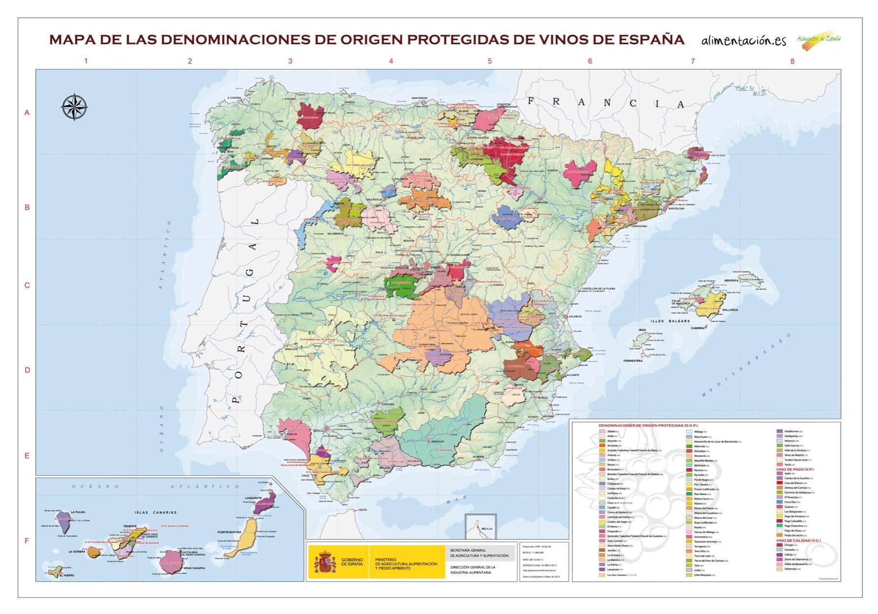 hispaania veinipiirkonnad